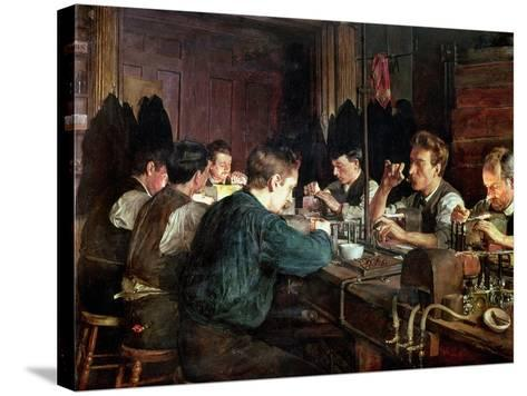 The Glass Blowers, 1883-Charles Frederic Ulrich-Stretched Canvas Print
