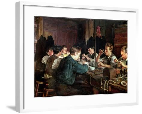 The Glass Blowers, 1883-Charles Frederic Ulrich-Framed Art Print