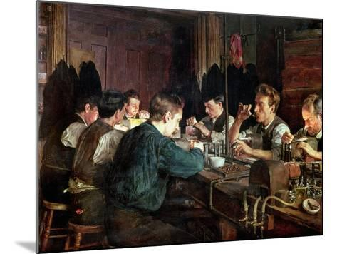 The Glass Blowers, 1883-Charles Frederic Ulrich-Mounted Giclee Print