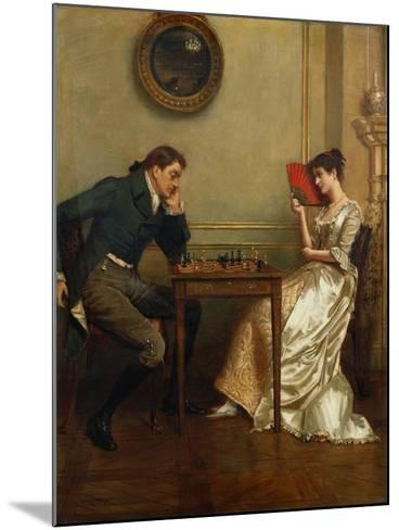 A Game of Chess-George Goodwin Kilburne-Mounted Giclee Print