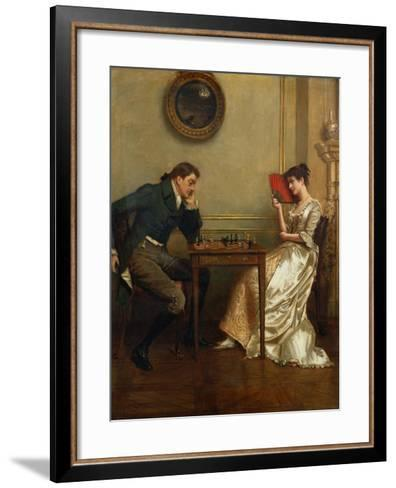 A Game of Chess-George Goodwin Kilburne-Framed Art Print
