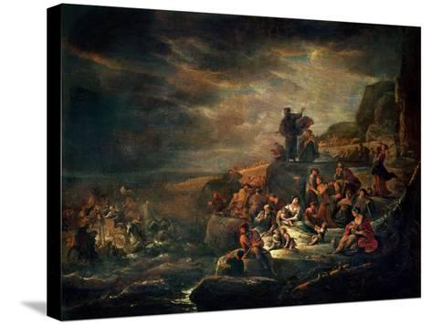 The Passage of the Red Sea-Jakob Willemsz de Wet-Stretched Canvas Print