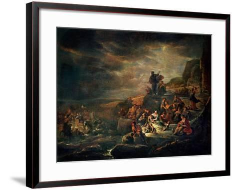 The Passage of the Red Sea-Jakob Willemsz de Wet-Framed Art Print