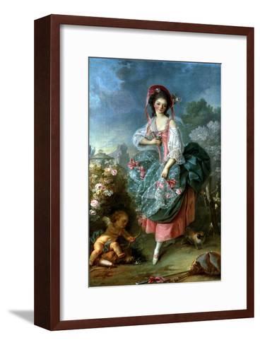 Portrait of Mademoiselle Guimard as Terpsichore, circa 1799-Jacques-Louis David-Framed Art Print