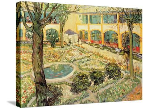 The Asylum Garden at Arles, c.1889-Vincent van Gogh-Stretched Canvas Print