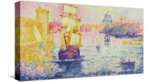 The Port of Marseilles, circa 1909-Henri Edmond Cross-Stretched Canvas Print