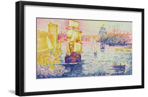 The Port of Marseilles, circa 1909-Henri Edmond Cross-Framed Art Print