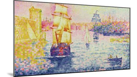 The Port of Marseilles, circa 1909-Henri Edmond Cross-Mounted Giclee Print