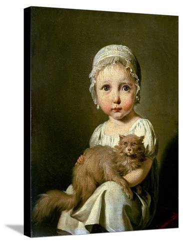 Gabrielle Arnault 1813-Louis Leopold Boilly-Stretched Canvas Print