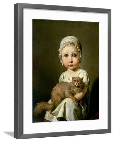 Gabrielle Arnault 1813-Louis Leopold Boilly-Framed Art Print