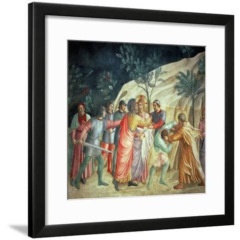 The Kiss of Judas, 1442-Fra Angelico-Framed Art Print