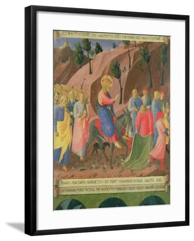 Entry of Christ into Jerusalem, Detail from Panel Three-Fra Angelico-Framed Art Print