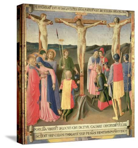 Christ on the Cross Between the Two Thieves-Fra Angelico-Stretched Canvas Print