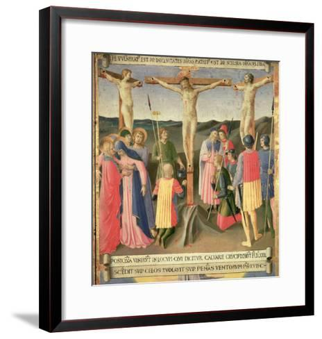 Christ on the Cross Between the Two Thieves-Fra Angelico-Framed Art Print