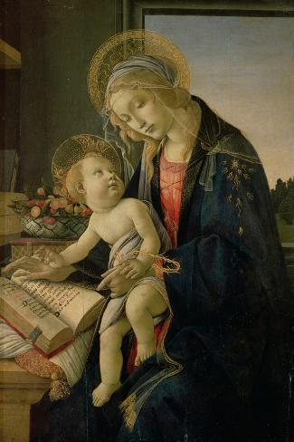 The Virgin Teaching the Infant Jesus to Read-Sandro Botticelli-Stretched Canvas Print