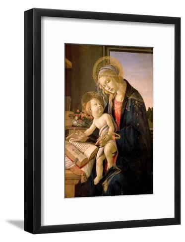 The Virgin Teaching the Infant Jesus to Read-Sandro Botticelli-Framed Art Print