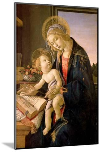 The Virgin Teaching the Infant Jesus to Read-Sandro Botticelli-Mounted Giclee Print