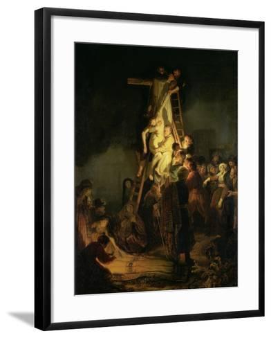 The Descent from the Cross-Rembrandt van Rijn-Framed Art Print