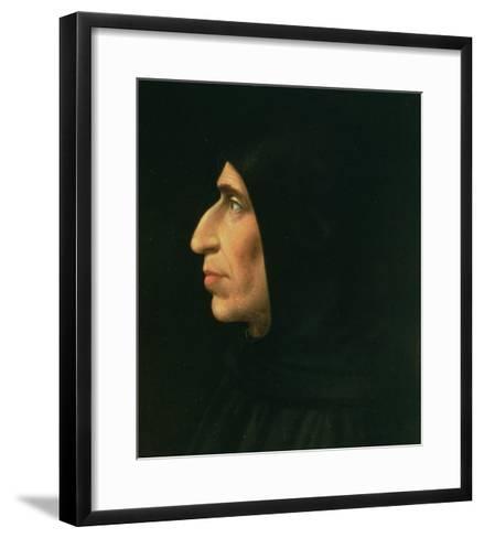 Portrait of Savonarola-Fra Bartolommeo-Framed Art Print