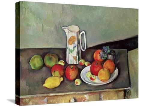 Still Life with Milkjug and Fruit, circa 1886-90-Paul C?zanne-Stretched Canvas Print
