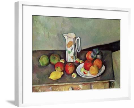 Still Life with Milkjug and Fruit, circa 1886-90-Paul C?zanne-Framed Art Print