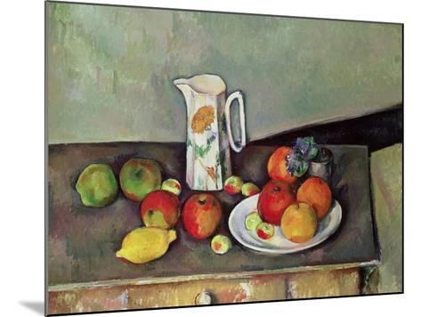 Still Life with Milkjug and Fruit, circa 1886-90-Paul C?zanne-Mounted Giclee Print