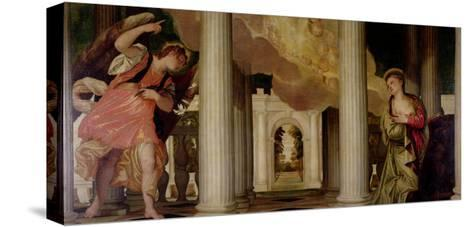 Annunciation-Paolo Veronese-Stretched Canvas Print