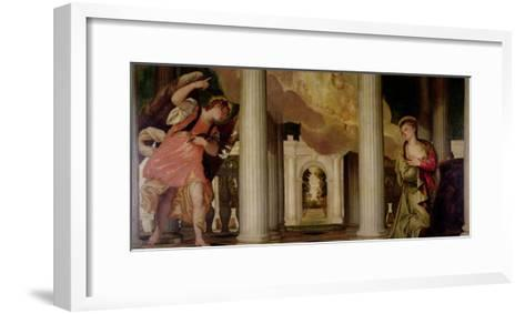Annunciation-Paolo Veronese-Framed Art Print