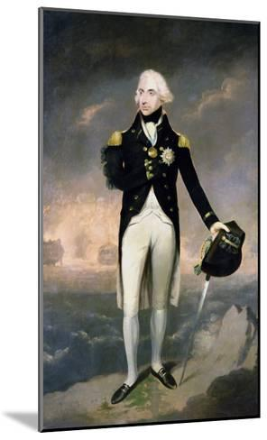 Portrait of Lord Nelson with Santa Cruz Beyond-Lemuel Francis Abbott-Mounted Giclee Print