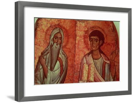 Moses with the Tablets of the Law, 6th Century Wallpainting--Framed Art Print