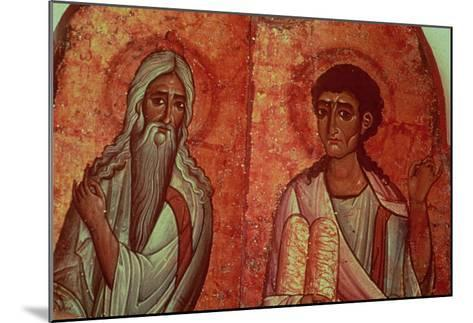 Moses with the Tablets of the Law, 6th Century Wallpainting--Mounted Giclee Print