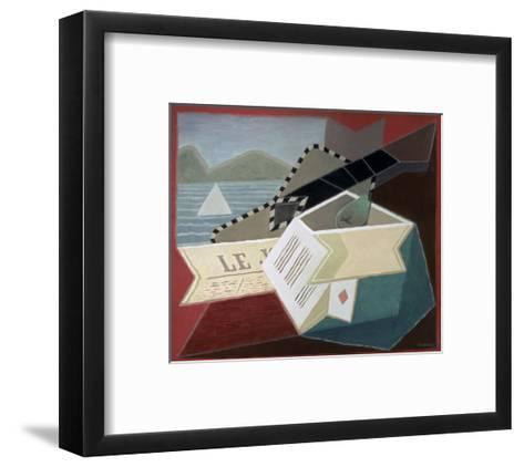 A Guitar Facing the Sea-Juan Gris-Framed Art Print