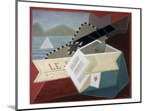 A Guitar Facing the Sea-Juan Gris-Mounted Giclee Print