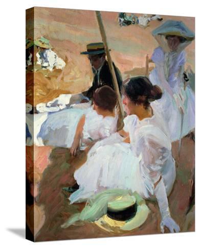 Under the Parasol, Zarauz, 1910-Joaqu?n Sorolla y Bastida-Stretched Canvas Print