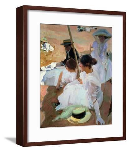 Under the Parasol, Zarauz, 1910-Joaqu?n Sorolla y Bastida-Framed Art Print