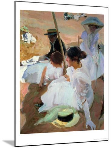 Under the Parasol, Zarauz, 1910-Joaqu?n Sorolla y Bastida-Mounted Giclee Print