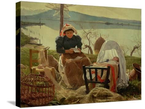 A Letter from Her Husband, 1895-Angel Andrade Blazguez-Stretched Canvas Print