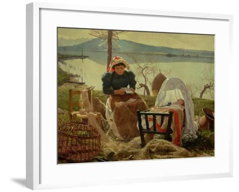 A Letter from Her Husband, 1895-Angel Andrade Blazguez-Framed Art Print