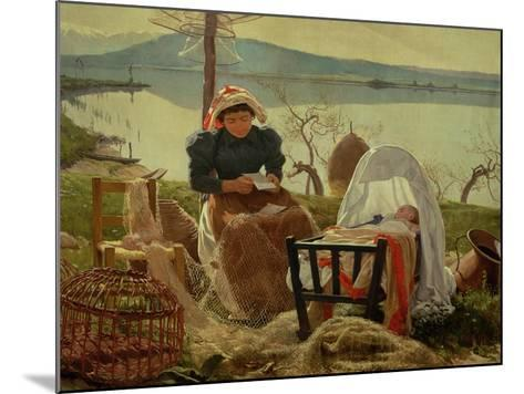 A Letter from Her Husband, 1895-Angel Andrade Blazguez-Mounted Giclee Print