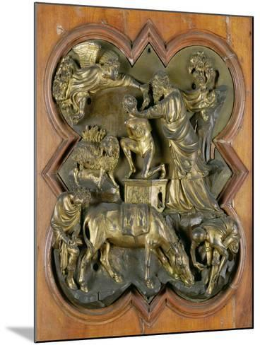 The Sacrifice of Isaac, Bronze Competition Relief for the Baptistry Doors, Florence, 1401-Filippo Brunelleschi-Mounted Giclee Print