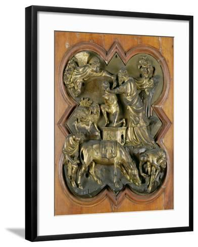 The Sacrifice of Isaac, Bronze Competition Relief for the Baptistry Doors, Florence, 1401-Filippo Brunelleschi-Framed Art Print