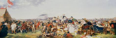 Derby Day-William Powell Frith-Stretched Canvas Print