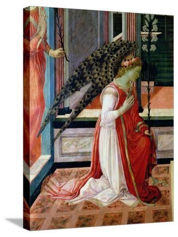 Annunciation (Detail)-Filippino Lippi-Stretched Canvas Print