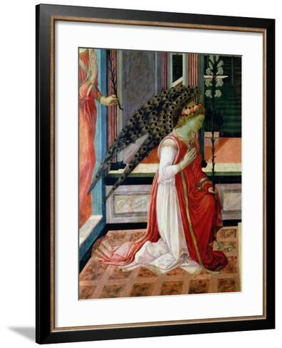 Annunciation (Detail)-Filippino Lippi-Framed Art Print