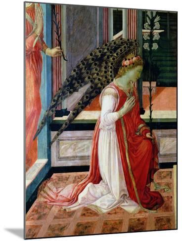 Annunciation (Detail)-Filippino Lippi-Mounted Giclee Print