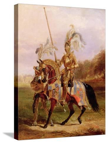 At Eglinton, Lord of the Tournament, 1840-Edward Henry Corbould-Stretched Canvas Print