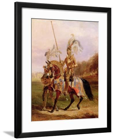 At Eglinton, Lord of the Tournament, 1840-Edward Henry Corbould-Framed Art Print