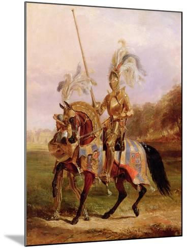 At Eglinton, Lord of the Tournament, 1840-Edward Henry Corbould-Mounted Giclee Print