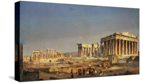 The Parthenon, 1863-Ippolito Caffi-Stretched Canvas Print
