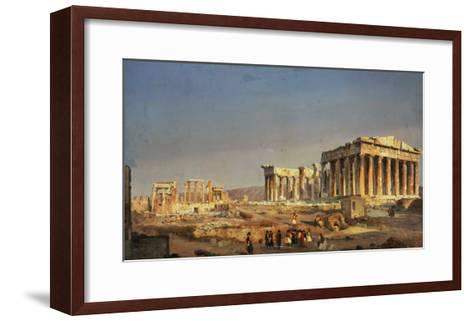 The Parthenon, 1863-Ippolito Caffi-Framed Art Print